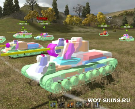 "Мод для World Of Tanks ""3D зоны пробития"""